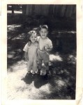 Favorite childhood photo: Evelyn 2 yrs., brother 3-1/2, Turlock CA